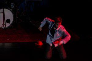 Das Bild zeigt einen Ausschnitt aus dem Auftritt von Sabeth Dannenberg bei WireWagna (ZEITMAULtheater Bochum).