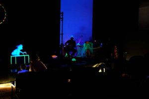 Ausschnitt aus WireWagna mit Zauberlichttheater (ZEITMAUL-Theater Bochum)