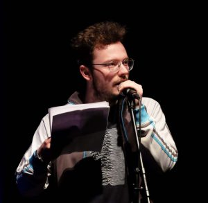 Auftrittsfoto Jason Bartsch bei WireWagna (ZEITMAUL-Theater Bochum)