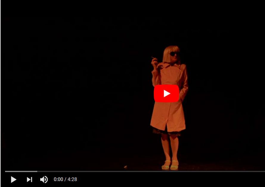 """Ankündigung Video von einem Auftritt von Maria Wolf im Rahmen der Reihe """"BESUCHE"""" (ZEITMAUL-Theater Bochum)"""