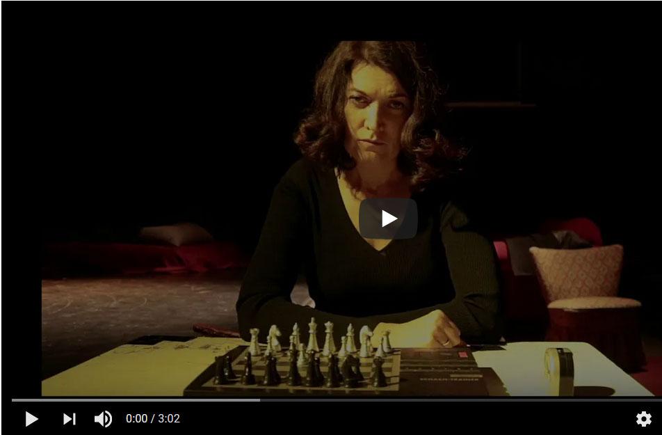 """Ankündigung Video von einem Auftritt von Joanna Stanecka im Rahmen der Reihe """"BESUCHE"""" (ZEITMAUL-Theater Bochum)"""
