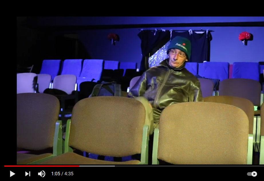 """Ankündigung Video von einem Auftritt von Giampiero Piria im Rahmen der Reihe """"BESUCHE"""" (ZEITMAUL-Theater Bochum)"""