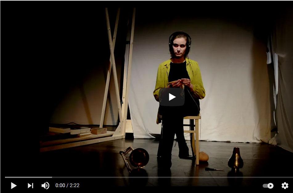 """Ankündigung Video von einem Auftritt von maria Trautmann im Rahmen der Reihe """"BESUCHE"""" (ZEITMAUL-Theater Bochum)"""