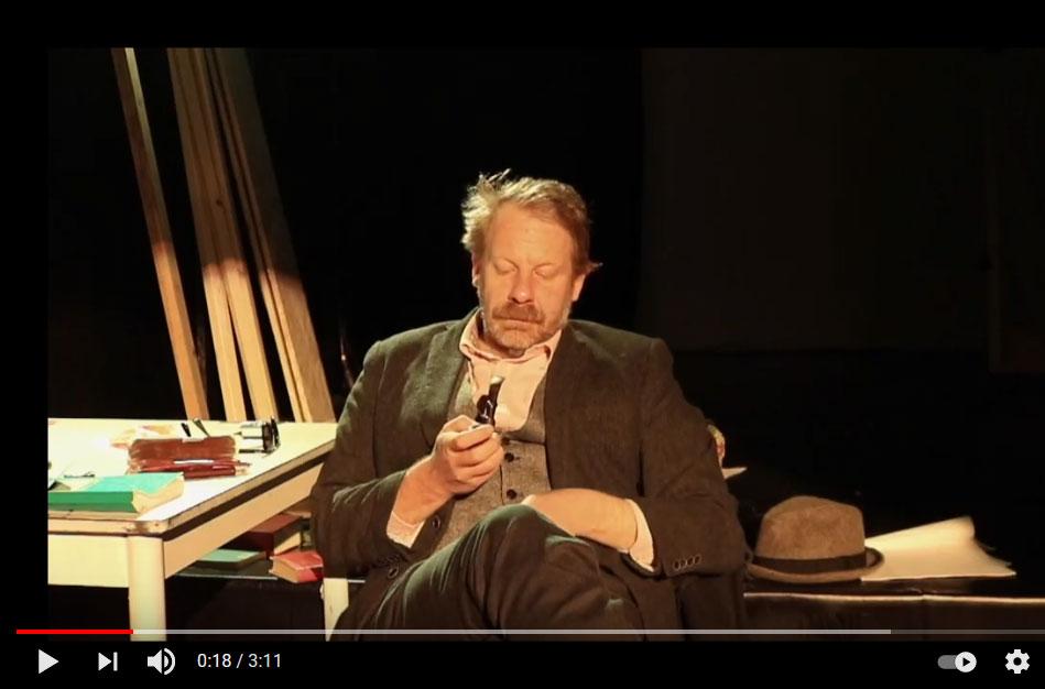 """Ankündigung Video von einem Auftritt von Patrick Joswig im Rahmen der Reihe """"BESUCHE"""" (ZEITMAUL-Theater Bochum)"""
