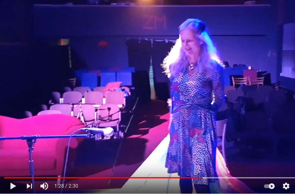 """Ankündigung Video von einem Auftritt von Verena Liebers im Rahmen der Reihe """"BESUCHE"""" (ZEITMAUL-Theater Bochum)"""